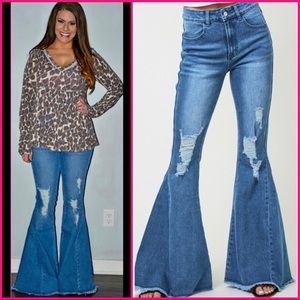 "Distressed Jeans - 34.5"" Inseam"